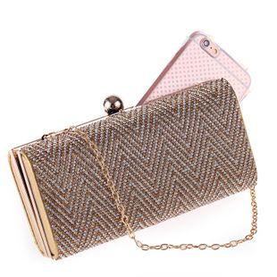 Bolso de mujer paquete de fiesta de noche de diamantes de nueva moda europea y americana NHYG174742's discount tags