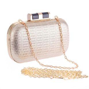 Paquete de moda de mano de PU de estilo europeo y americano paquete de fiesta de noche simple NHYG174761's discount tags
