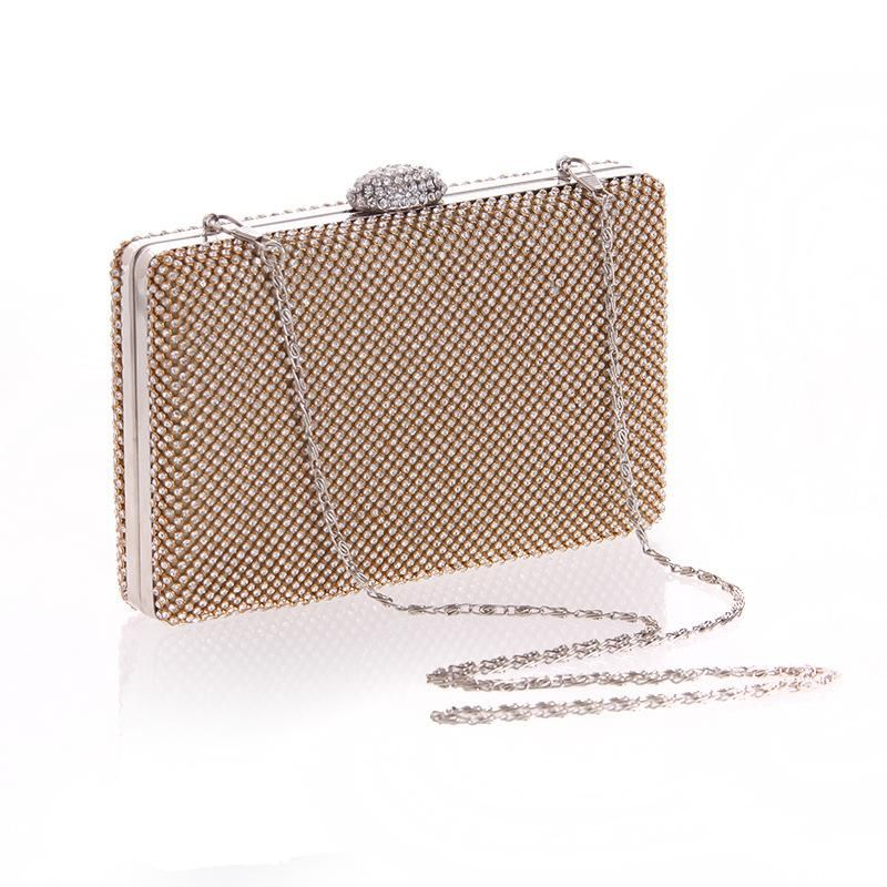 Fashion women's tide package diamond hand craft bag dress small party evening party package NHYG174706