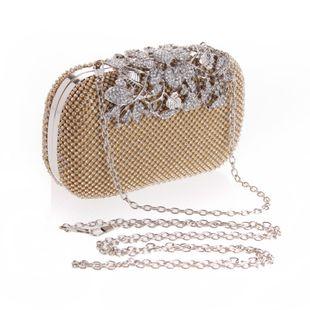 Bolso de cena de diamantes de imitación femeninos bolso pequeño cuadrado de moda NHYG174708's discount tags