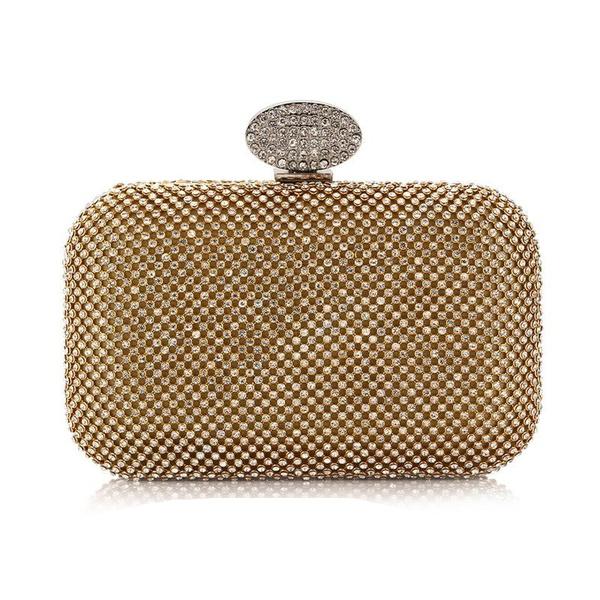 Female bag with diamonds female bag evening banquet bag holding women's bag NHYG174711