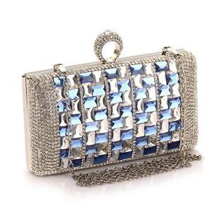 Vestido de fiesta de noche de diamantes bolso de vestir bolso de embrague para mujer bolso nuevo bolso pequeño bolso de embrague NHYG174712's discount tags