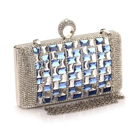 Diamond evening party bag dress bag ladies clutch bag new handbag small bag clutch bag NHYG174712's discount tags
