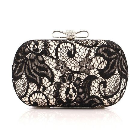 Lace bag butterfly disc satin evening bag fashion evening bag NHYG174718's discount tags