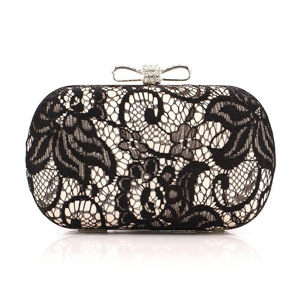 Lace bag butterfly disc satin evening bag fashion evening bag NHYG174718