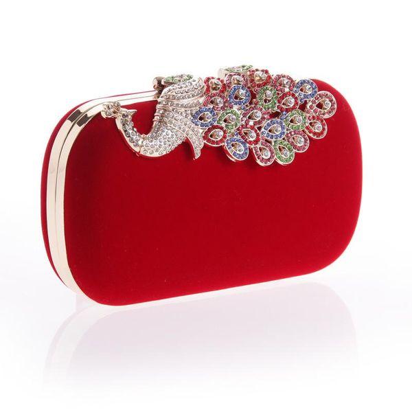 Bolso de cena de pavo real festivo bolso de moda de franela colorido Bolso de mujer de moda Ruili NHYG174719
