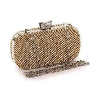 Bolso de embrague con tachuelas de diamantes de moda para mujer bolso pequeño de cadena diagonal de un solo hombro NHYG174727's discount tags