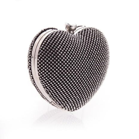 Female bag with diamond heart hand holding evening party bag NHYG174734's discount tags