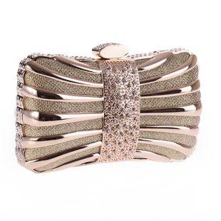 Taladro de aleación bolso de fiesta de noche bolso de cadena cuadrado pequeño NHYG174741's discount tags