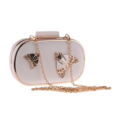 Bow evening dinner bag nightclub handbag fashion bag NHYG174757's discount tags