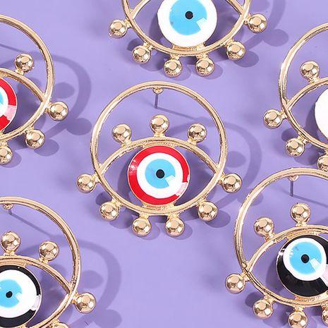 Bijoux géométrique ronde alliage goutte huile oeil de diable rétro boucles d'oreilles NHMD179971's discount tags
