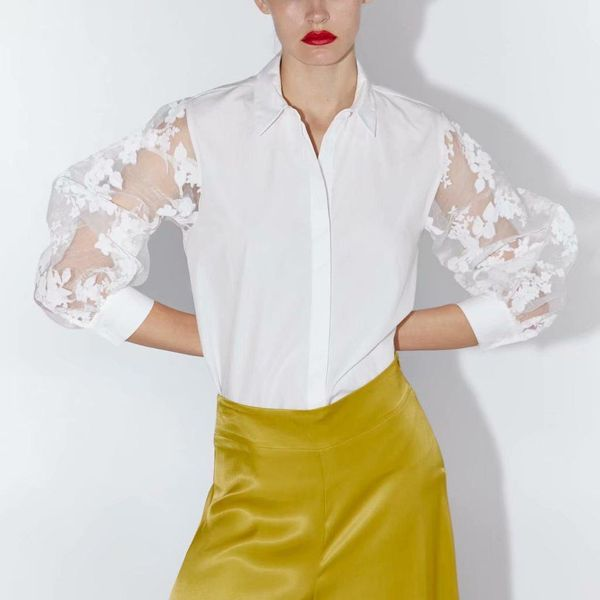 Wholesale transparent gauze sleeves for children's shirts NHAM179916