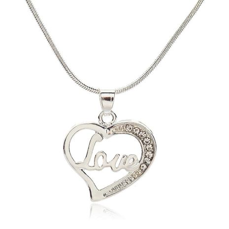 Best selling couple heart heart love clavicle chain LOVE English alphabet necklace item jewelry NHCU179734's discount tags