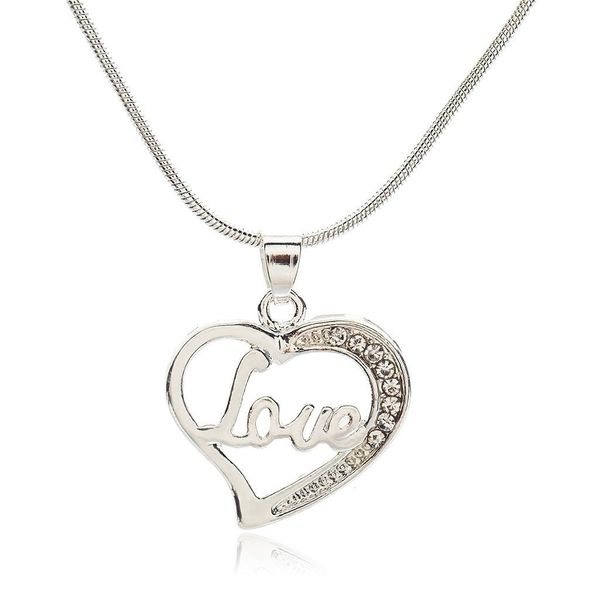 Best selling couple heart heart love clavicle chain LOVE English alphabet necklace item jewelry NHCU179734