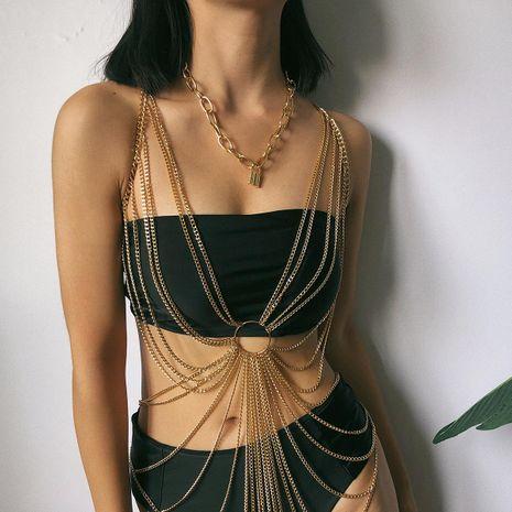 Rétro sexy chaîne géométrique vêtements multicouche gland anneau corps chaîne NHXR179657's discount tags