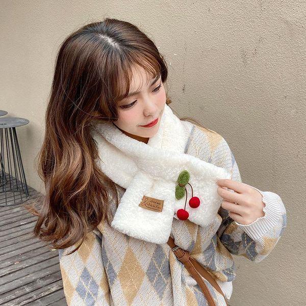 Imitation rabbit fur collar fur collar thick plush Korean cherry cute fashion girl scarf bib NHTZ179995