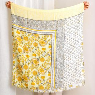 Scarf female color matching cotton and linen scarf shawl NHGD180097's discount tags