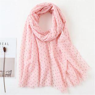 Retro striped wild plain cotton scarf female shawl fringed winter NHGD180052's discount tags
