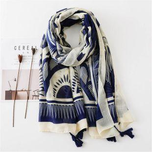 Fashion color matching geometric sunscreen scarf shawl dual-use scarf women NHGD180053's discount tags