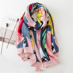 Scarf women's fashion wild warm super large shawl travel dual-use sunscreen beach towel female NHGD180057's discount tags