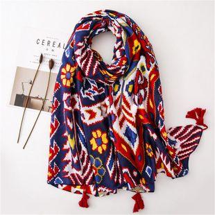 Sunscreen shawl female new beach towel pink geometric cotton scarf scarf scarf NHGD180067's discount tags