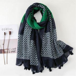 Fashion wild ladies scarf dot tassel dress with silk scarf NHGD180073's discount tags