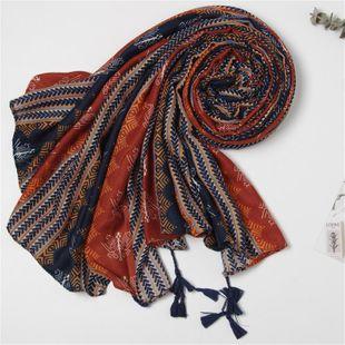 Shawl female sunscreen scarf navy blue orange student travel scarf NHGD180074's discount tags