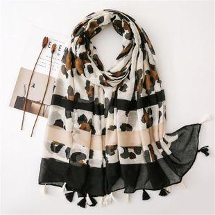 Shawl women's sunscreen big wild scarf Navy blue orange student travel scarf NHGD180076's discount tags