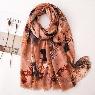 Graffiti cotton leprosh thin scarf scarves female soft shawl NHGD180142's discount tags