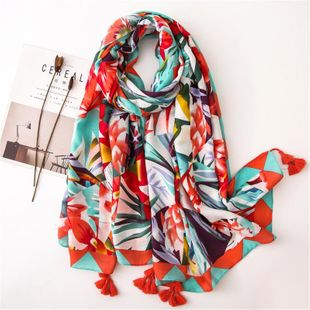 New cotton and linen scarf female color shawl sunscreen silk scarf wholesale NHGD180144's discount tags