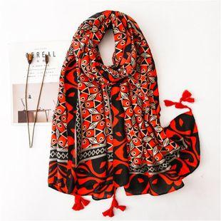 Sunscreen shawl kaleidoscope fashion cotton printed scarf shawl NHGD180148's discount tags