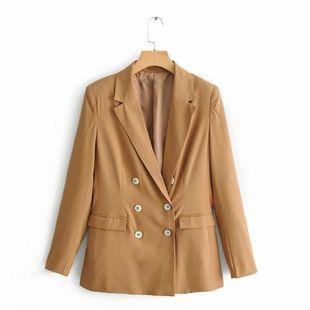 Wholesale double-breasted women's suit jacket suit jacket NHAM179899's discount tags