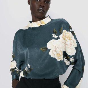 Wholesale winter print blouse top NHAM179866's discount tags
