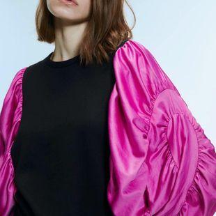Wholesale winter stitching sweatshirt women's sweater NHAM179852's discount tags