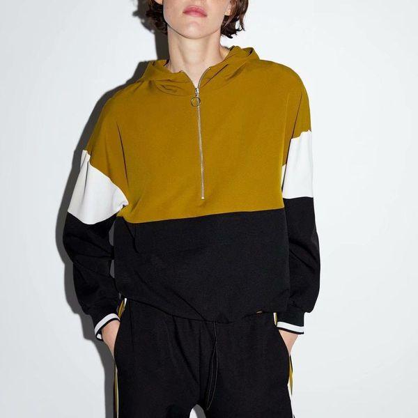 Wholesale New Women's Olive Green Turtleneck Sweater Kangaroo Pocket Jacket NHAM179875