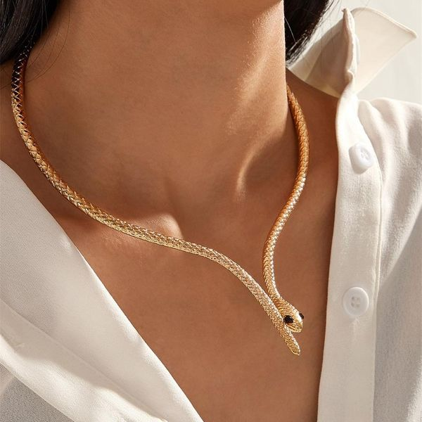 Snake Necklace Fashion Accessories Upscale Animal Pendant Jewelry Wholesale NHKQ180335