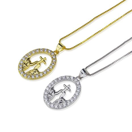 Hollow Cross Necklace Supervisor Jesus Pendant Item Clavicle Chain Simple Accessories NHBP180160's discount tags