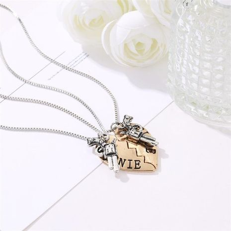 BONNTE CLYDE Heart Gun Necklace Couple Love Letter Necklace NHDP180299's discount tags
