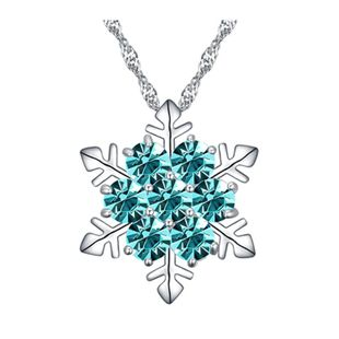 Fashion classic micro inlaid zircon snowflake necklace short necklace clavicle chain NHLJ180417's discount tags