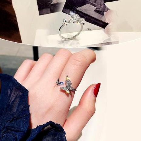 Papillon zircon ouverture anneau simple polyvalent bijoux mode bague NHIM180379's discount tags