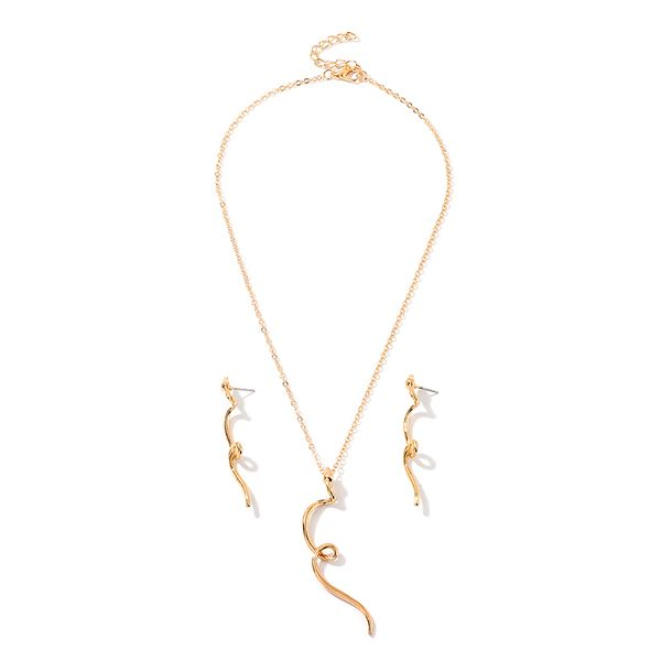 Creative Fashion Snake Element Necklace Popular Metal Snake Earring Set NHNZ180153