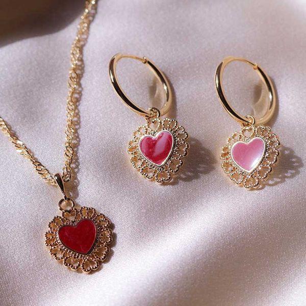 Earrings new gold-plated love earrings fashion punk earrings women NHOT179835