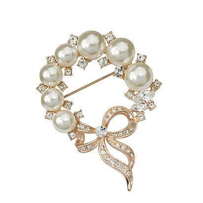 Jewelry fashion luxury diamond brooch dinner dress high-end pin NHLJ180403