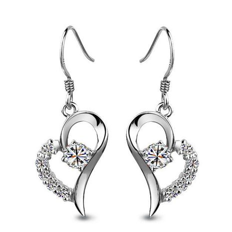 S925 pure silver ear hook zircon earrings wholesales fashion NHLJ180393's discount tags
