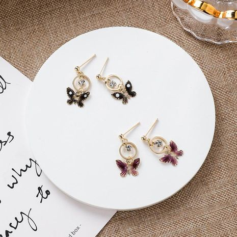 New small butterfly earrings art fashion girl sweet hundred nail jewelry NHMS180201's discount tags