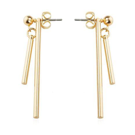 Earrings geometric asymmetry word bar earrings simple vertical bar NHCU180236's discount tags