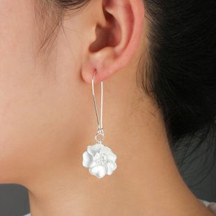 White flower women earrings wholesales fashion NHCU180250's discount tags