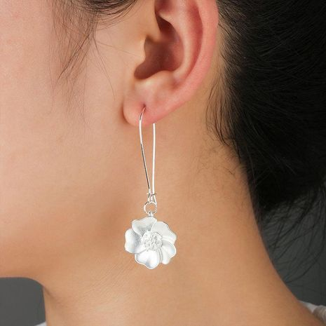 White flower women earrings wholesales fashion NHCU180250's discount tags