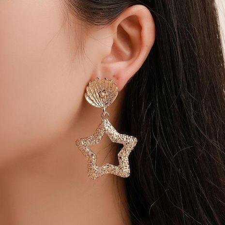 Explosion earrings beach starfish shell earrings five-pointed star embossed earrings women NHCU180274's discount tags
