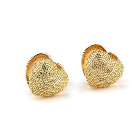 Hot heart-shaped fake diamond earrings copper plated love earrings NHBP180157's discount tags